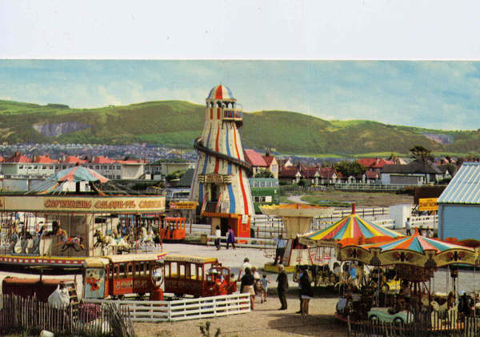 Ffrith Beach Postcard 1970s After The Revamp